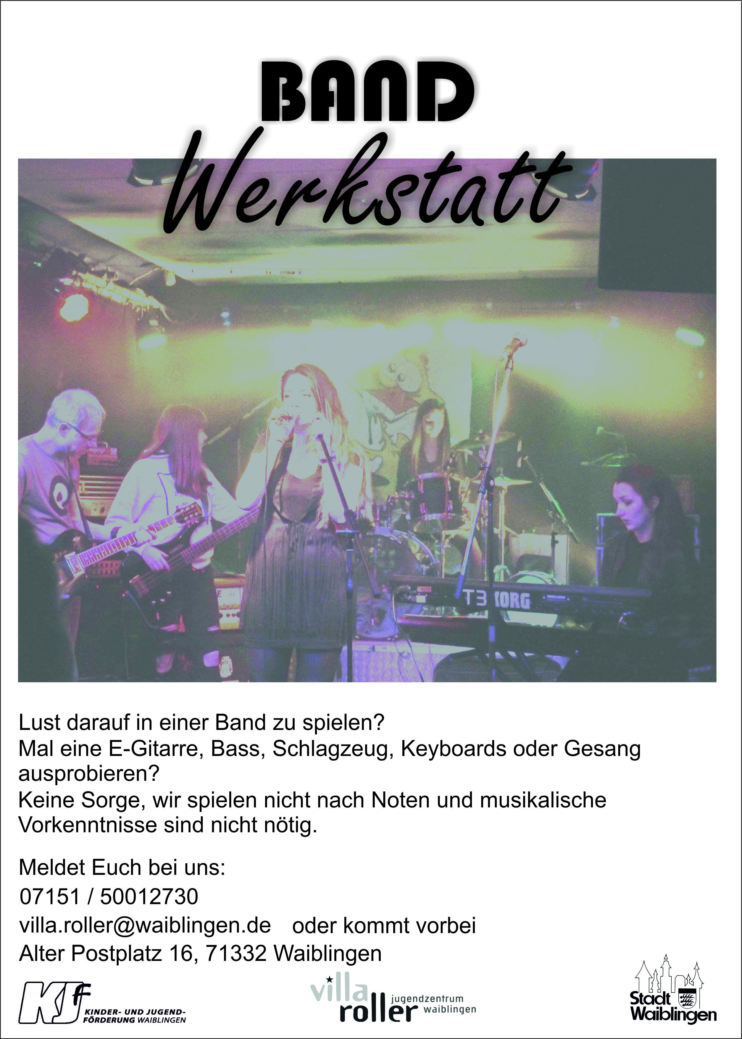"""Das Projekt """"Bandwerkstatt"""" sucht neue MusikerInnen"""