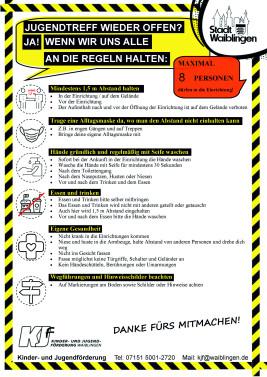 Regeln aufgrund der Coronaverordnung