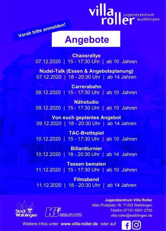Veranstaltungen im November 2020